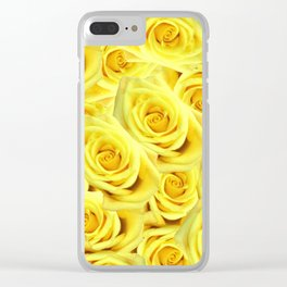 Candlelight Roses Clear iPhone Case