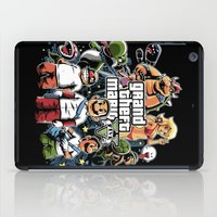 grand theft auto iPad Cases featuring Grand Theft Mario by Fuacka