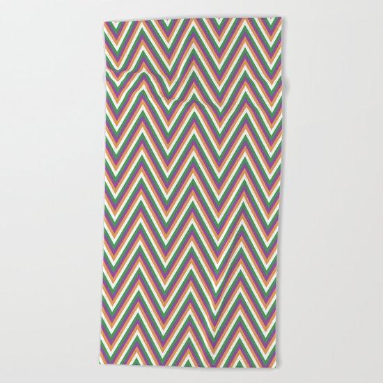 Retro chevron Beach Towel