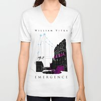 book cover V-neck T-shirts featuring Emergence - Book Cover by svitka