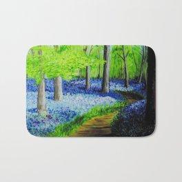 Bluebells in the woods Bath Mat