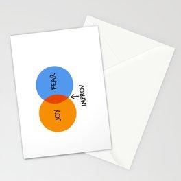The Venn of Improv (Orange/Blue) Stationery Cards