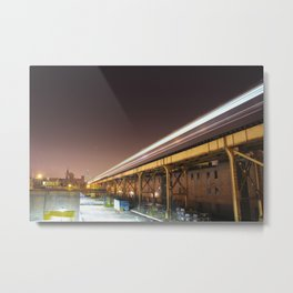 O'Hare Bound Blue Line Train Metal Print