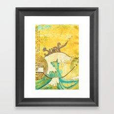 Surf avec la VIE Framed Art Print