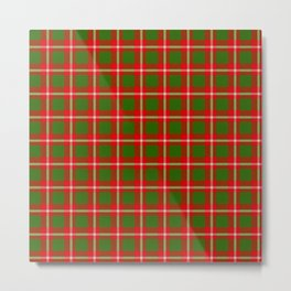 Tartan Style Green and Red Plaid Metal Print