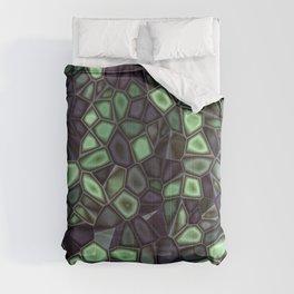 Fractal Gems 04 - Emerald Dreams Comforters
