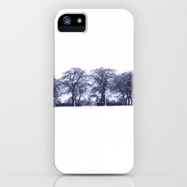 up the hill of trees iPhone Case