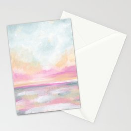 Peace, Love & Joy - Tropical Ocean Seascape Stationery Cards