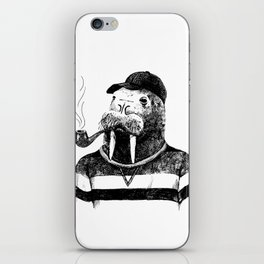 Walrus with a Pipe iPhone Skin