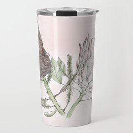 Banksia and Protea blush pink Travel Mug