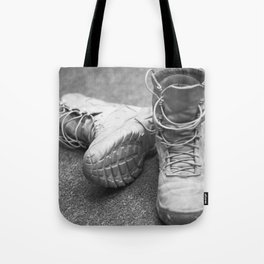 A Mile in My Boots Tote Bag