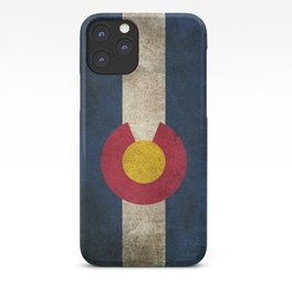 Old and Worn Distressed Vintage Flag of Colorado iPhone Case
