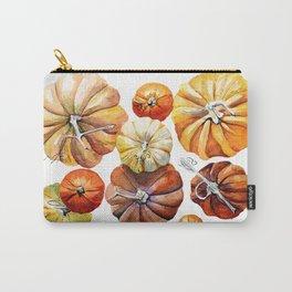 pumpkin orange Carry-All Pouch