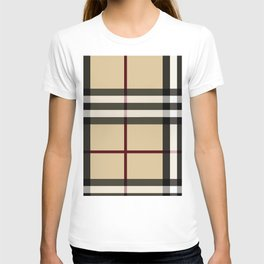 Flower in brown pattern T-shirt