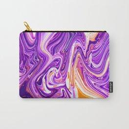 Purple Groovy Swirl Pattern Carry-All Pouch