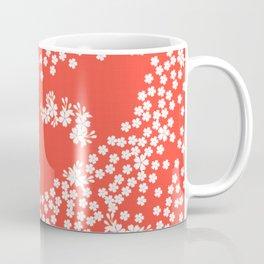 Persimmon Sakura Blossoms // Japanese Cherry Blossoms Coffee Mug