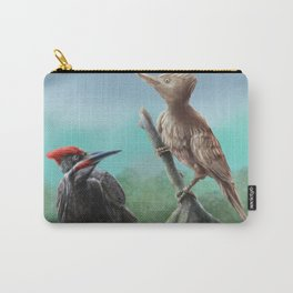 Wooden Woodpecker Carry-All Pouch