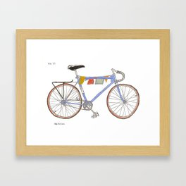 Blue Bike no 12 Framed Art Print