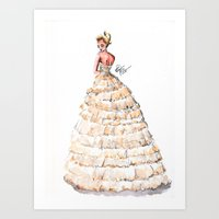 Fashion Watercolor Couture Gown Art Print