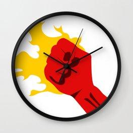 Power Fist Wall Clock