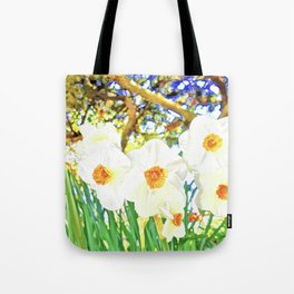 Bright Spring Narcissus Tote Bag
