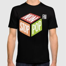Non Stop Pop MEDIUM Black Mens Fitted Tee