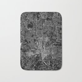 Columbus Black Map Bath Mat