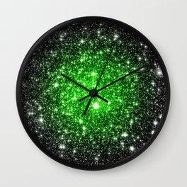 galAxy. Stars Lime Green Wall Clock