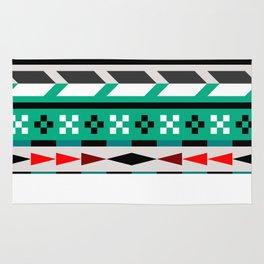 Geometric Aztec Pattern Rug