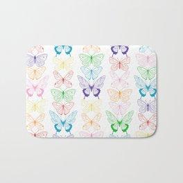 Butterfly Rainbow Bath Mat