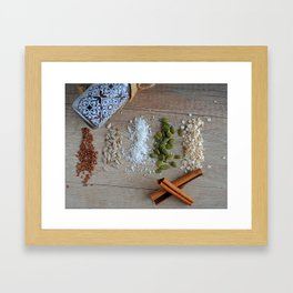 seeds and spices Framed Art Print