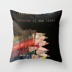 Color outside of the lines Throw Pillow