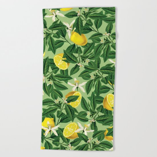 Lemonade    #society6 #decor #pattern Beach Towel
