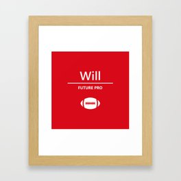 Will Future Pro - Red and White Framed Art Print