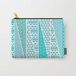 Patterned Triangles Carry-All Pouch