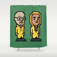 8-Bit: Breaking Bad Shower Curtain