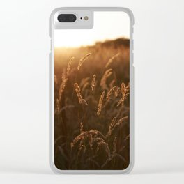 Blades of Grass At Sunset Clear iPhone Case