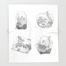Terrariums Throw Blanket