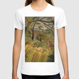 "Henri Rousseau ""Tiger in a Tropical Storm (Surprised!)"", 1891 T-shirt"