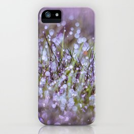 Morning dew on grass iPhone Case