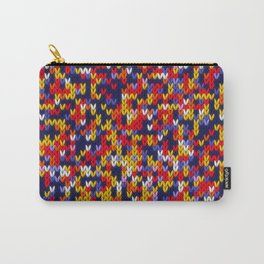 Knitted multicolor pattern 1 Carry-All Pouch