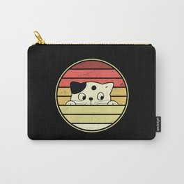 Retro Vintage Cat Animal Pet Cat Lover Carry-All Pouch
