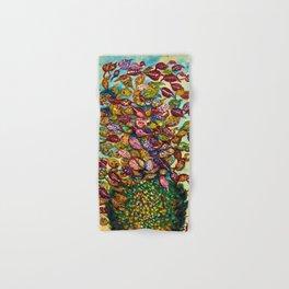 Le grand flower bouquet in vase by Seraphine Louis Hand & Bath Towel
