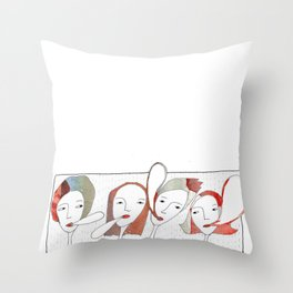 Le Quattro Grazie Throw Pillow