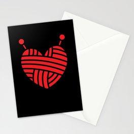 Knitting Wool I Love Knitting Heart Symbol Stationery Cards