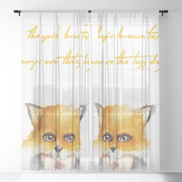 The Quick Brown Fox Sheer Curtain