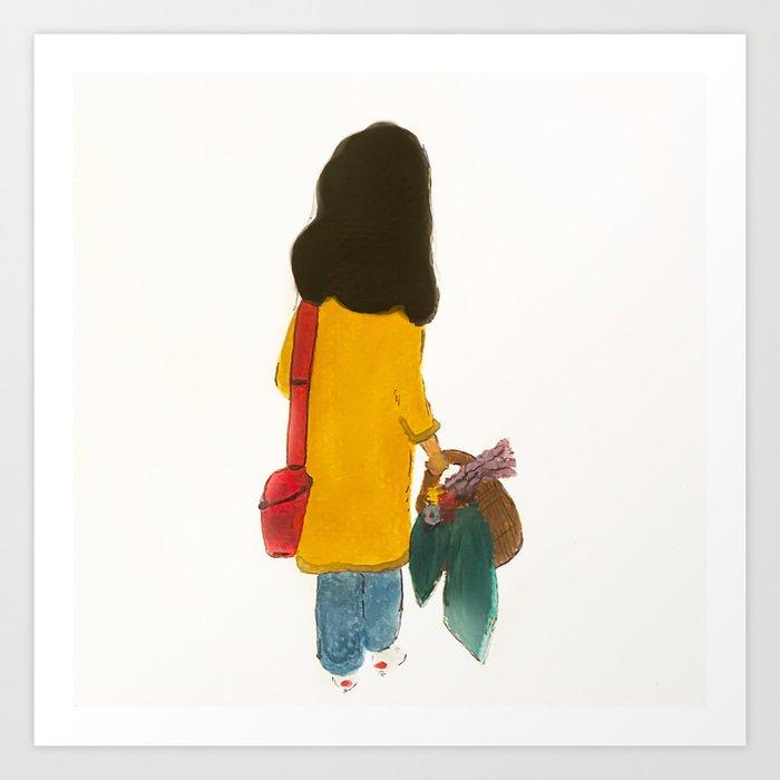 My Big Red Purse Art Print by Fiza Pirani - X-Small (s6-13923530p4a1v45) photo