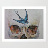 sparrow Art Prints featuring Sparrow by Michael Creese