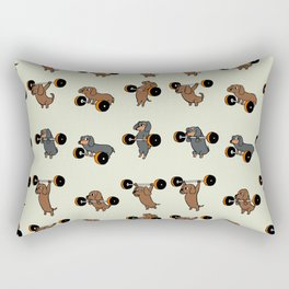 Olympic Lifting Dachshund Rectangular Pillow