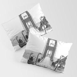 Golden Gate Bridge Black and White Pillow Sham
